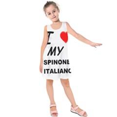Spinone Love Kids  Sleeveless Dress by TailWags
