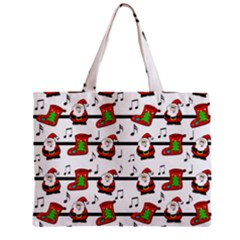 Xmas song pattern Zipper Mini Tote Bag by Valentinaart