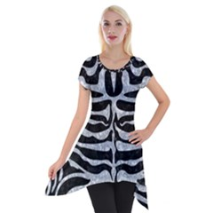 SKN2 BK-GY MARBLE Short Sleeve Side Drop Tunic