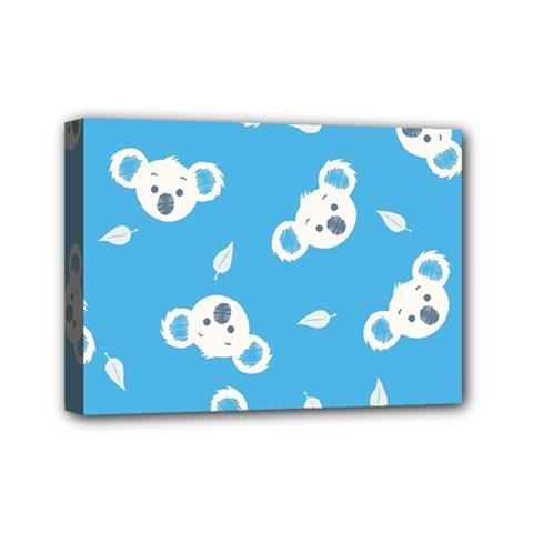 Blue Koala Mini Canvas 7  x 5  by AnjaniArt