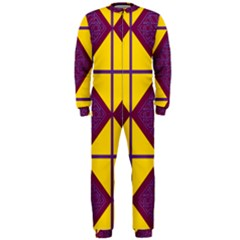 Complexion Purple Yellow Onepiece Jumpsuit (men)  by AnjaniArt