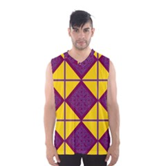 Complexion Purple Yellow Men s Basketball Tank Top by AnjaniArt