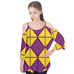 Complexion Purple Yellow Flutter Tees by AnjaniArt