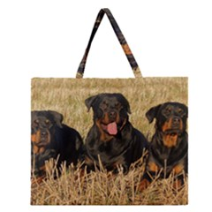 Rottweiler Group Zipper Large Tote Bag by TailWags