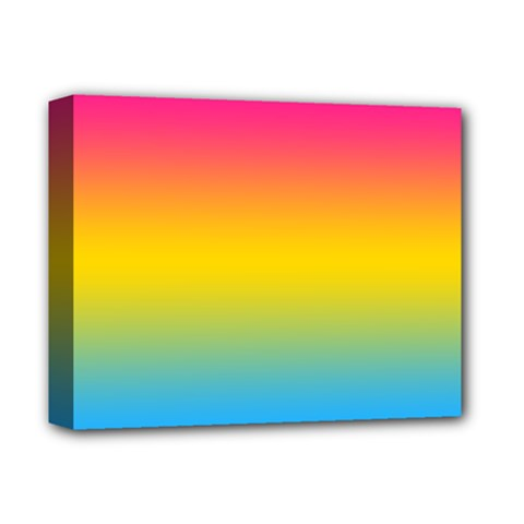 Pink Orange Green Blue Deluxe Canvas 14  X 11  by AnjaniArt