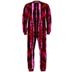 Pink Burgundy Traditional Pattern OnePiece Jumpsuit (Men)  by Costasonlineshop