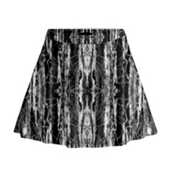 Black White Taditional Pattern  Mini Flare Skirt by Costasonlineshop