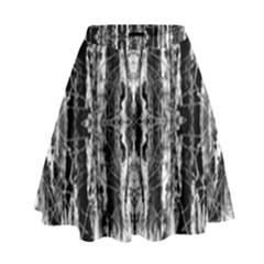 Black White Taditional Pattern  High Waist Skirt by Costasonlineshop