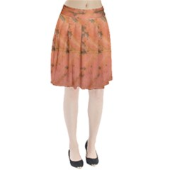 Red Leaf Texture Pleated Skirt by SamEarl13