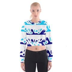Water Women s Cropped Sweatshirt by AnjaniArt