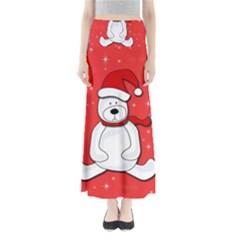 Polar Bear   Red Maxi Skirts by Valentinaart