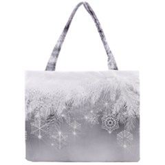 New Year Holiday Snowflakes Tree Branches Mini Tote Bag by Onesevenart