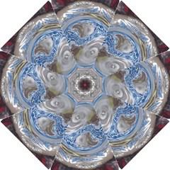 Silver Gray Blue Geometric Art Circle Golf Umbrellas by yoursparklingshop