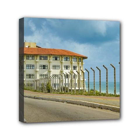 Eclectic Style Building Natal Brazil Mini Canvas 6  X 6  by dflcprints