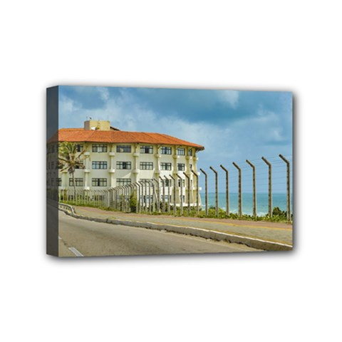 Eclectic Style Building Natal Brazil Mini Canvas 6  X 4  by dflcprints