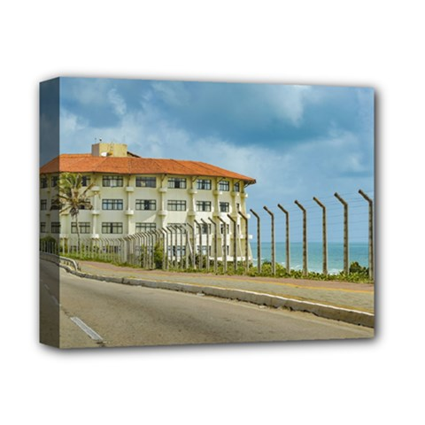 Eclectic Style Building Natal Brazil Deluxe Canvas 14  X 11  by dflcprints
