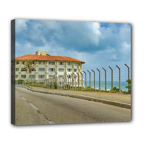Eclectic Style Building Natal Brazil Deluxe Canvas 24  X 20   by dflcprints