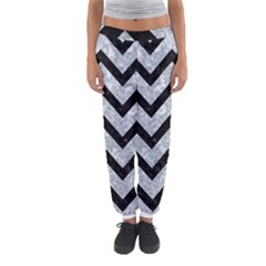 Chevron9 Black Marble & Gray Marble (r) Women s Jogger Sweatpants by trendistuff