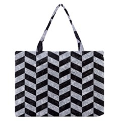 CHV1 BK-GY MARBLE Medium Zipper Tote Bag by trendistuff
