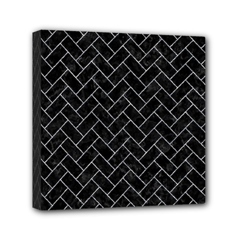 Brick2 Black Marble & Gray Marble Mini Canvas 6  X 6  (stretched) by trendistuff