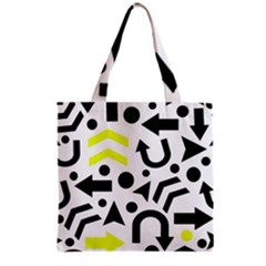 Yellow Right Direction  Grocery Tote Bag by Valentinaart