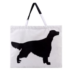 Irish Red White Setter Silo Black Zipper Large Tote Bag by TailWags