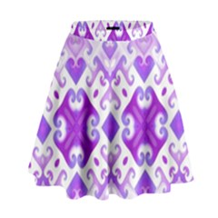 Soft Lavender Swirling High Waist Skirt by KirstenStar