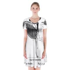 Ghundskeleton Short Sleeve V-neck Flare Dress by TailWags