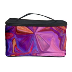 Candy Abstract Pink, Purple, Orange Cosmetic Storage Case by theunrulyartist