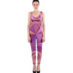 Candy Abstract Pink, Purple, Orange Onepiece Catsuit by theunrulyartist
