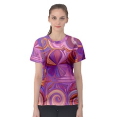 Candy Abstract Pink, Purple, Orange Women s Sport Mesh Tee by theunrulyartist