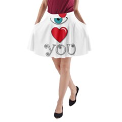 I love you A-Line Pocket Skirt by Valentinaart