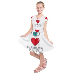 I Love You Kids  Short Sleeve Dress