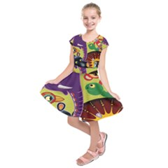 Animals Kids  Short Sleeve Dress