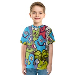 Colourful Monster Flooring Kids  Sport Mesh Tee by AnjaniArt