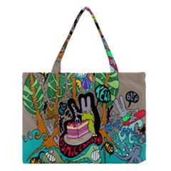 Cosmic Candy Monster Medium Tote Bag by AnjaniArt