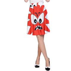 Monster Angry A Line Skirt by AnjaniArt