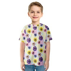 Monster Eye Flower Kids  Sport Mesh Tee by AnjaniArt
