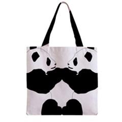Panda Zipper Grocery Tote Bag by AnjaniArt