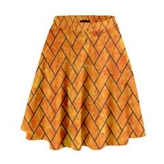 BRK2 BK-OR MARBLE (R) High Waist Skirt by trendistuff