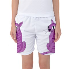 Purple Cat Women s Basketball Shorts by Valentinaart