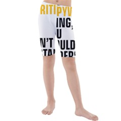 It a Copywriting Thing, you wouldn t understand Kids  Mid Length Swim Shorts by flamingarts