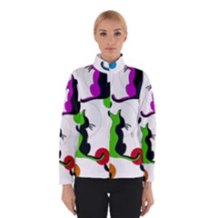 Colorful Abstract Cats Winterwear by Valentinaart