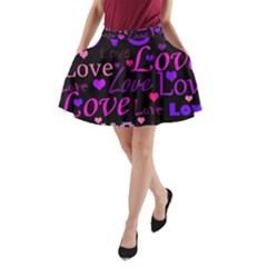 Love Pattern 2 A Line Pocket Skirt by Valentinaart