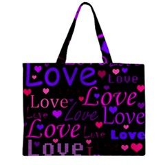 Love pattern 2 Medium Tote Bag by Valentinaart