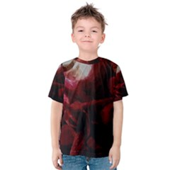 Dark Red Candlelight Candles Kids  Cotton Tee by yoursparklingshop