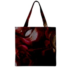 Dark Red Candlelight Candles Grocery Tote Bag by yoursparklingshop