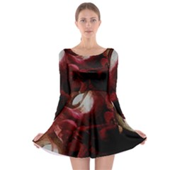 Dark Red Candlelight Candles Long Sleeve Skater Dress by yoursparklingshop