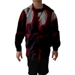 Dark Red Candlelight Candles Hooded Wind Breaker (kids) by yoursparklingshop