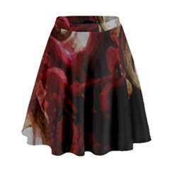 Dark Red Candlelight Candles High Waist Skirt by yoursparklingshop